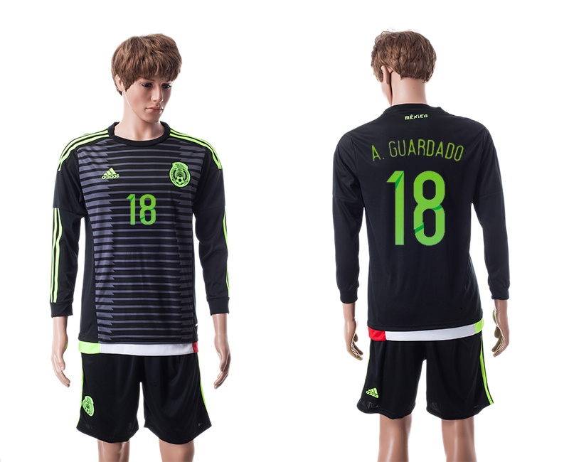 2015 Mexico Copa America 18 A.GUARDADO Long Sleeve Home Jersey