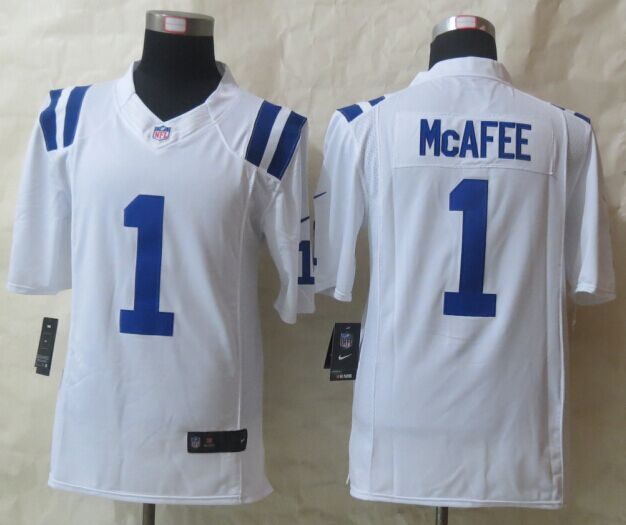 Indianapolis Colts 1 McAfee White Nike Limited Jersey
