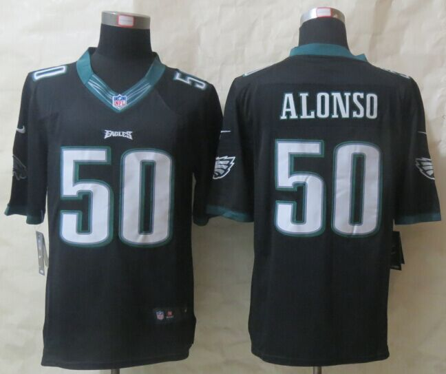 Philadelphia Eagles 50 Alonso Black New Nike Limited Jerseys