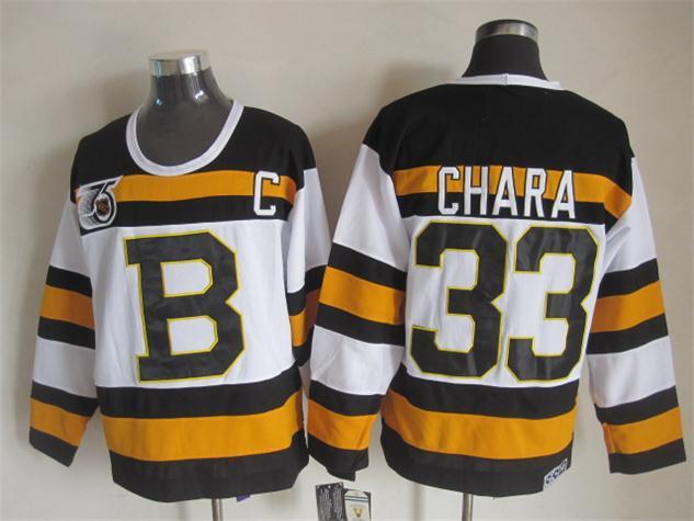 NHL Boston Bruins 33 chara white Jersey