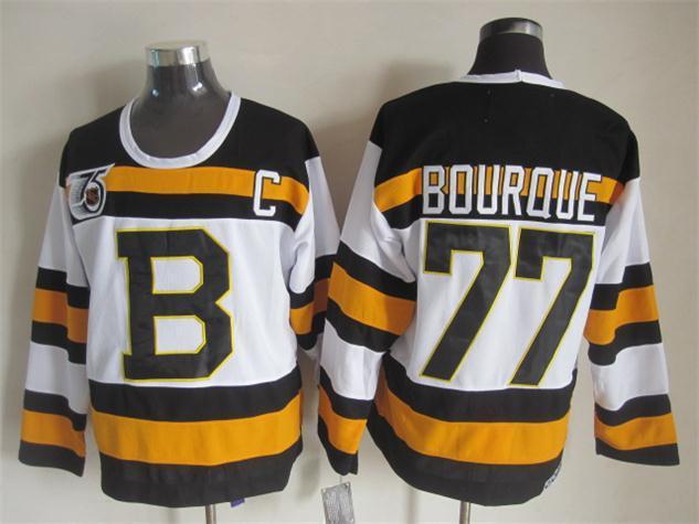 NHL Boston Bruins 77 bourque white Jersey