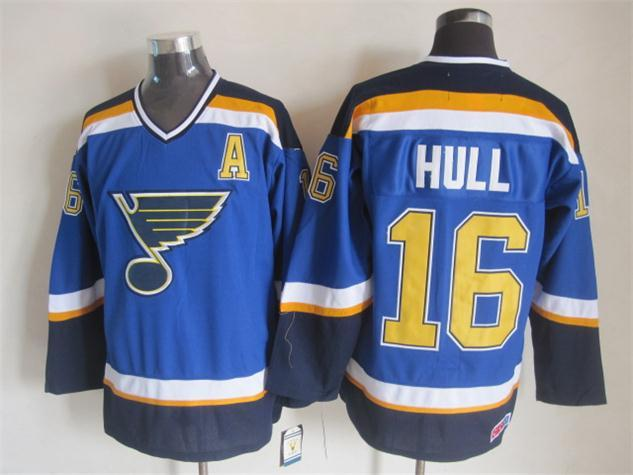 NHL St. Louis Blues 16 hull blue Jersey