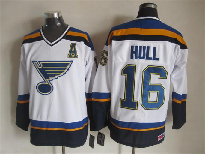 NHL St. Louis Blues 16 hull white Jersey