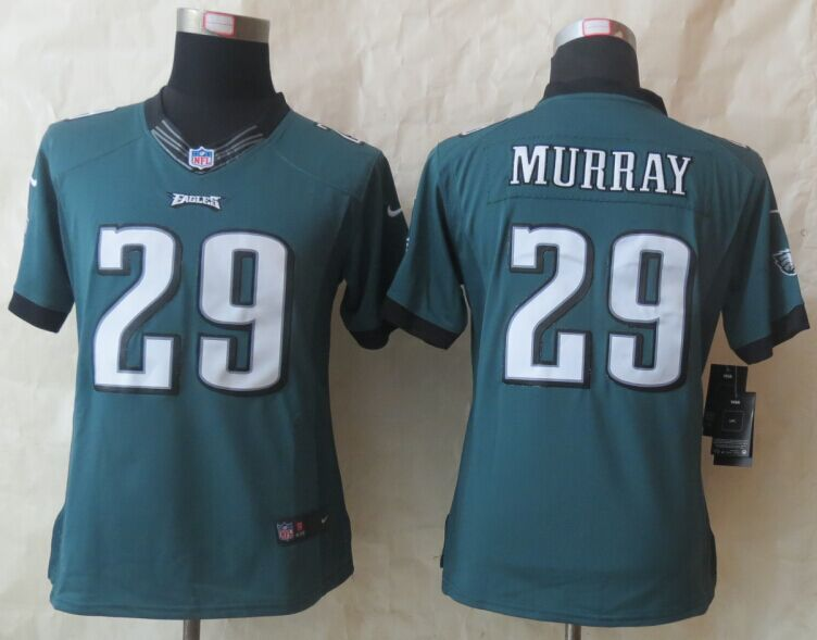 Womens Philadelphia Eagles 29 Murray Green New Nike Limited Jerseys