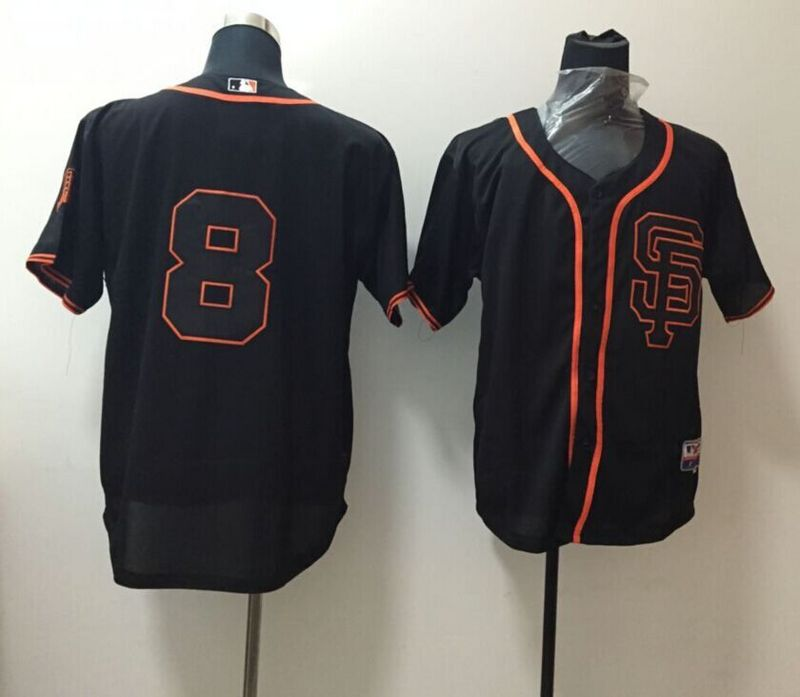 MLB San Francisco Giants 8 black 2015 Jersey