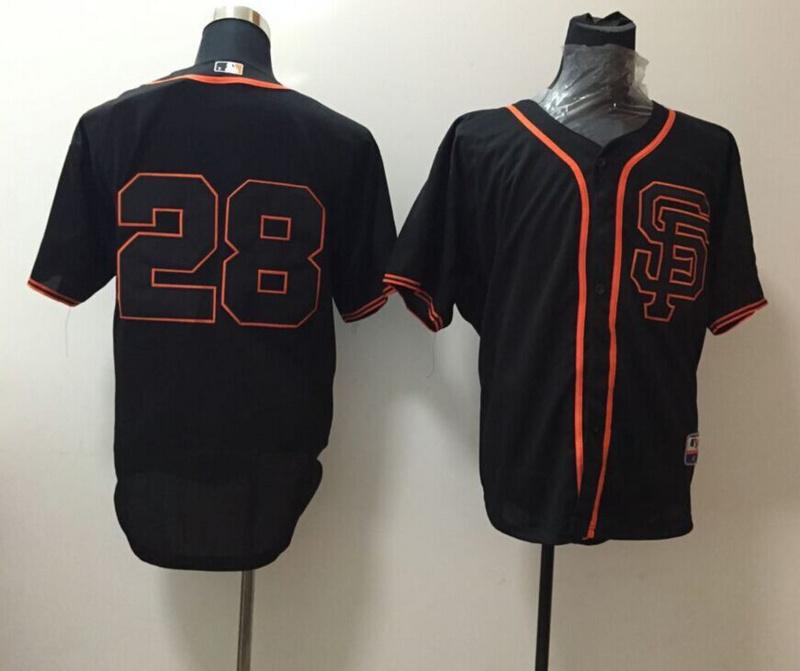 MLB San Francisco Giants 28 black 2015 Jersey