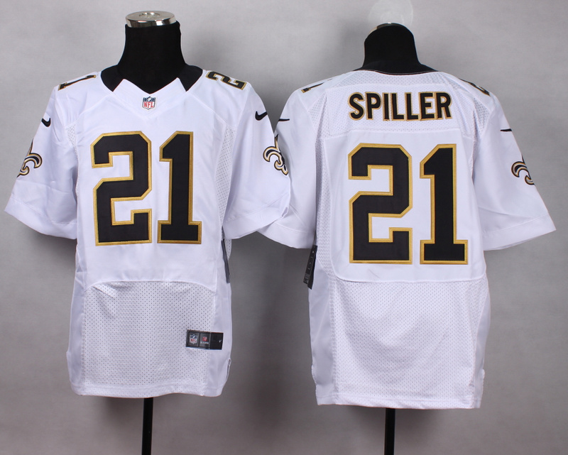 New Orleans Saints 21 Spiller white Men Nike Elite Jerseys