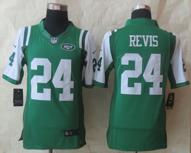 New York Jets 24 Revis Green Nike 2015 Limited Jersey