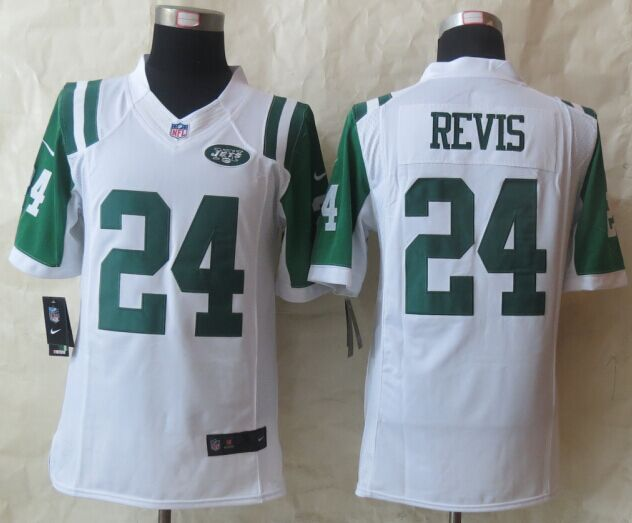 New York Jets 24 Revis White Nike 2015 Limited Jersey