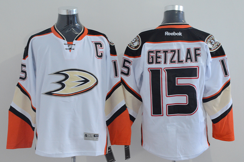 NHL Anaheim Ducks 15 getzlaf white Jersey