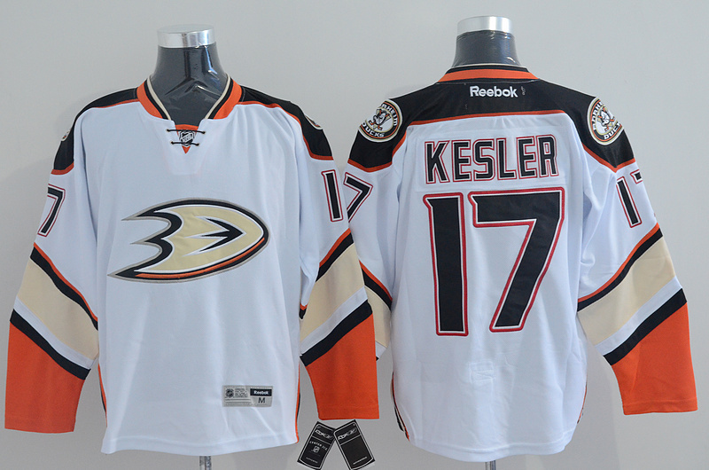 NHL Anaheim Ducks 17 kesler white Jersey
