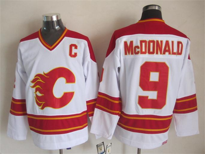 NHL Calgary Flames 9 mcdonald white Jersey