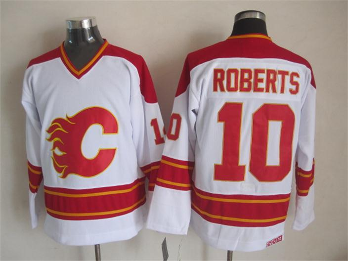 NHL Calgary Flames 10 roberts white Jersey
