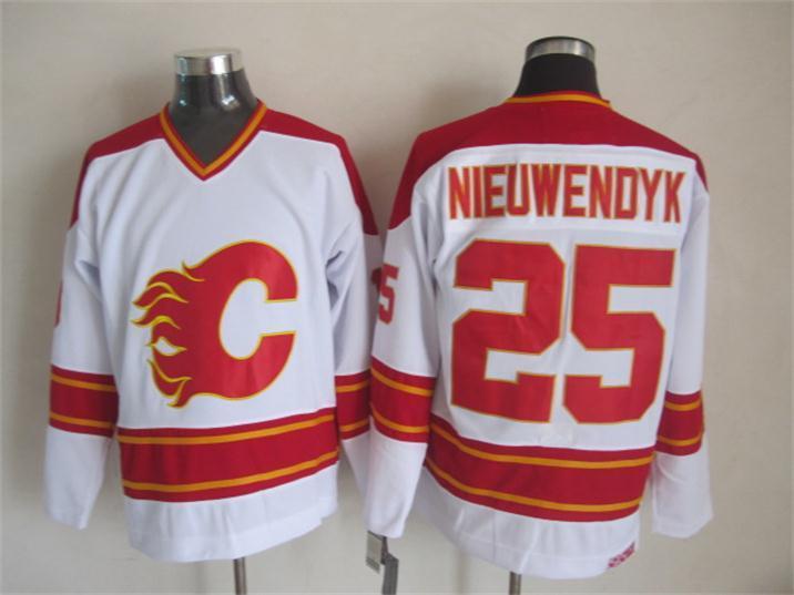 NHL Calgary Flames 25 nieuwendyk white Jersey