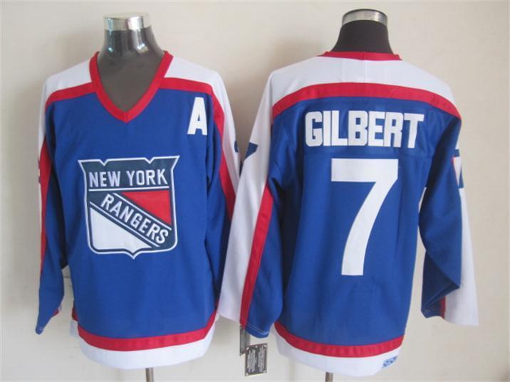 NHL New York Rangers 7 gilbert blue Jersey