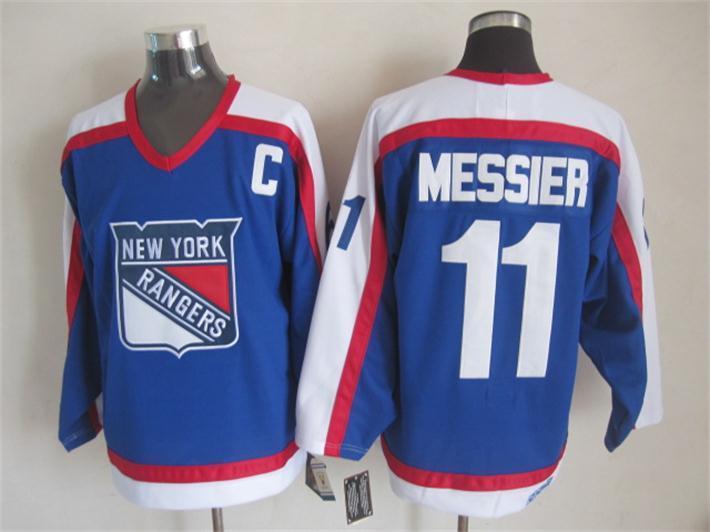 NHL New York Rangers 11 messier blue Jersey