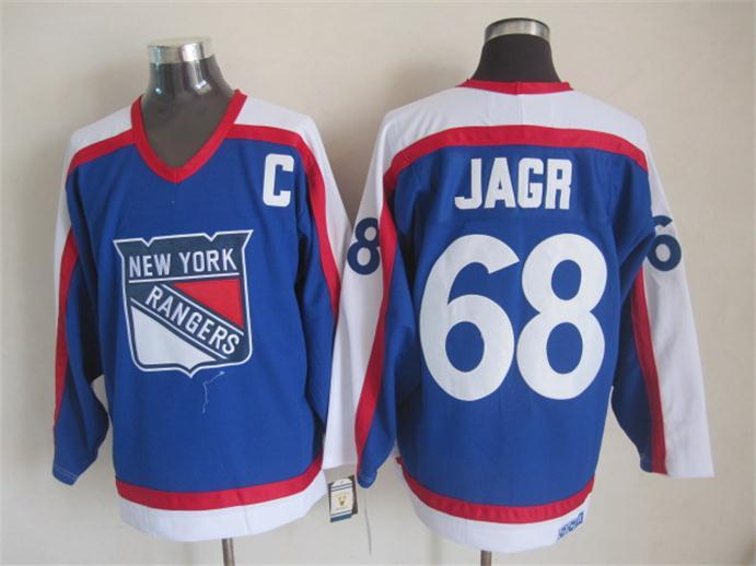 NHL New York Rangers 68 jagr blue Jersey