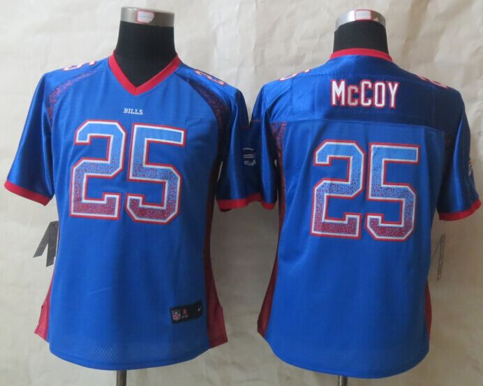 Womens Buffalo Bills 25 McCoy Drift Fashion Blue New Nike Elite Jerseys