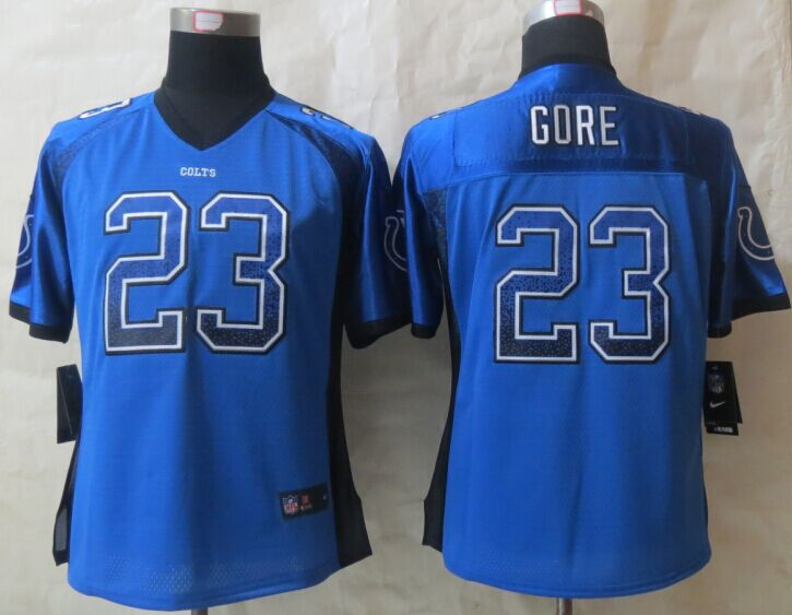 Womens Indianapolis Colts 23 Gore Drift Fashion Blue 2015 NEW Nike Elite Jerseys