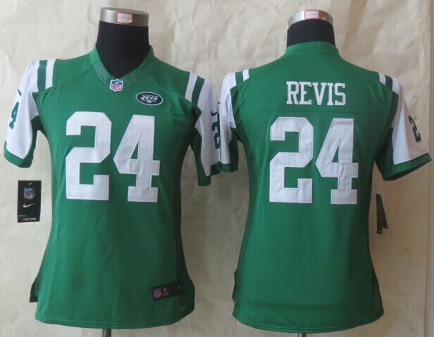 Womens New York Jets 24 Revis Green Nike 2015 Limited Jersey