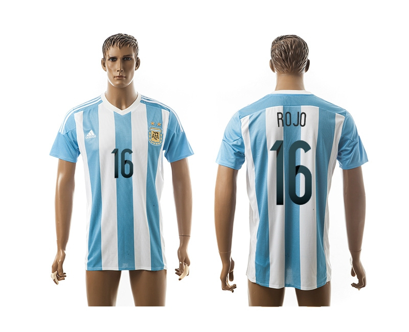 2015 AAA+ Argentina 16 ROJO Home Soccer Jersey