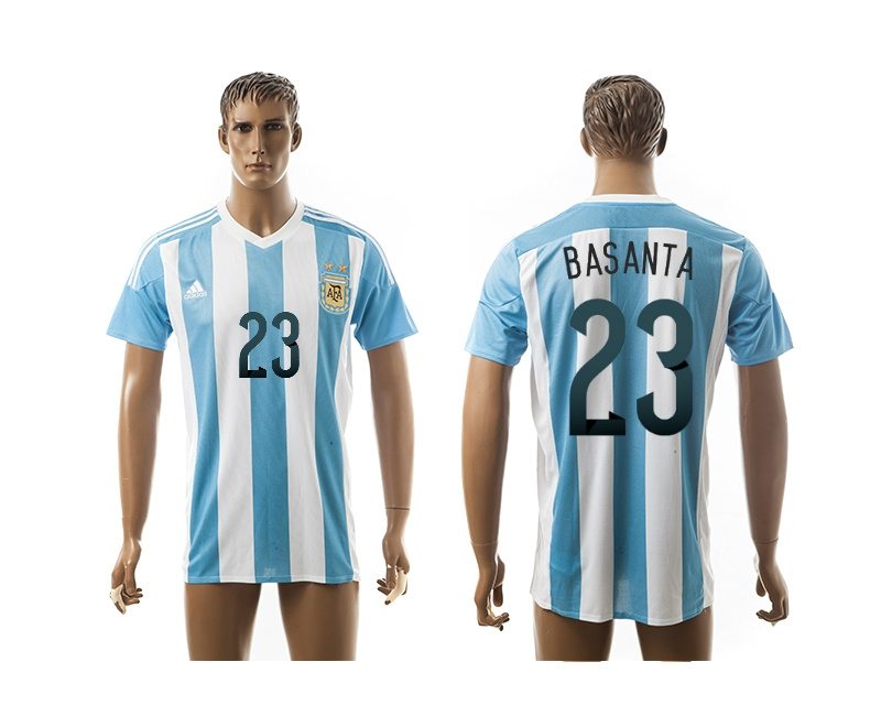 2015 AAA+ Argentina 23 BASANTA Home Soccer Jersey