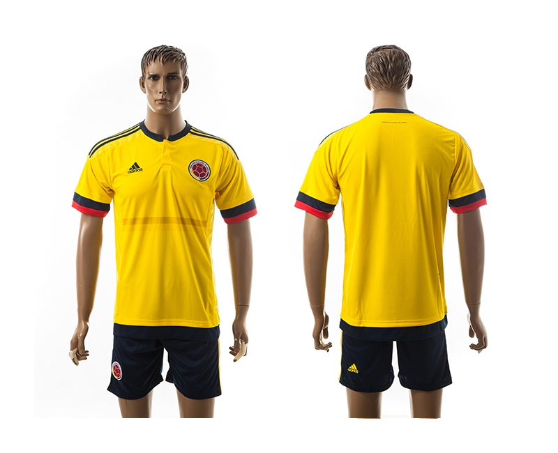 2015 Columbia Blank Home Yellow Soccer Jerseys
