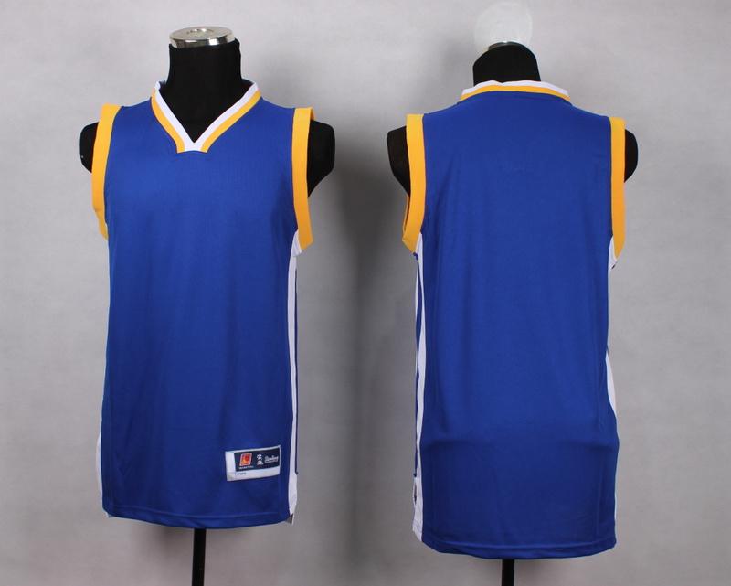NBA Golden State Warriors Blank blue New Jersey