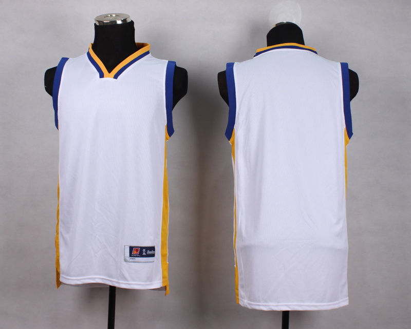 NBA Golden State Warriors Blank white New Jersey