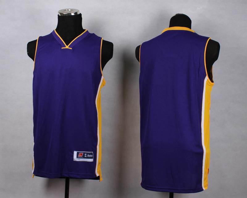 NBA Los Angeles Lakers Blank purple New Jersey