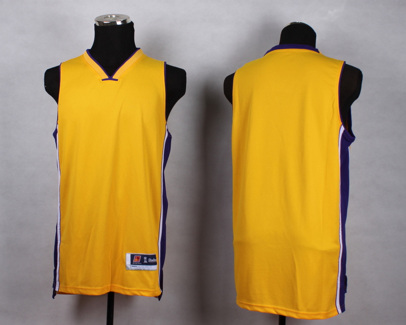 NBA Los Angeles Lakers Blank Yellow New Jersey