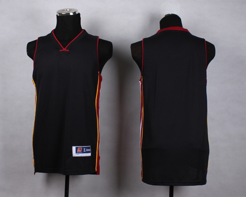 NBA Miami Heat Blank Black New Jersey
