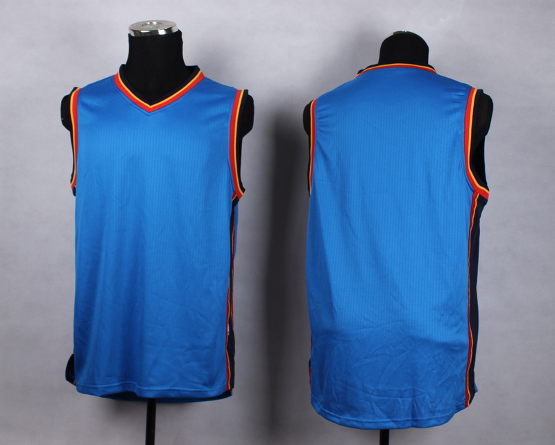 NBA Oklahoma City Thunder Blank blue New Jersey