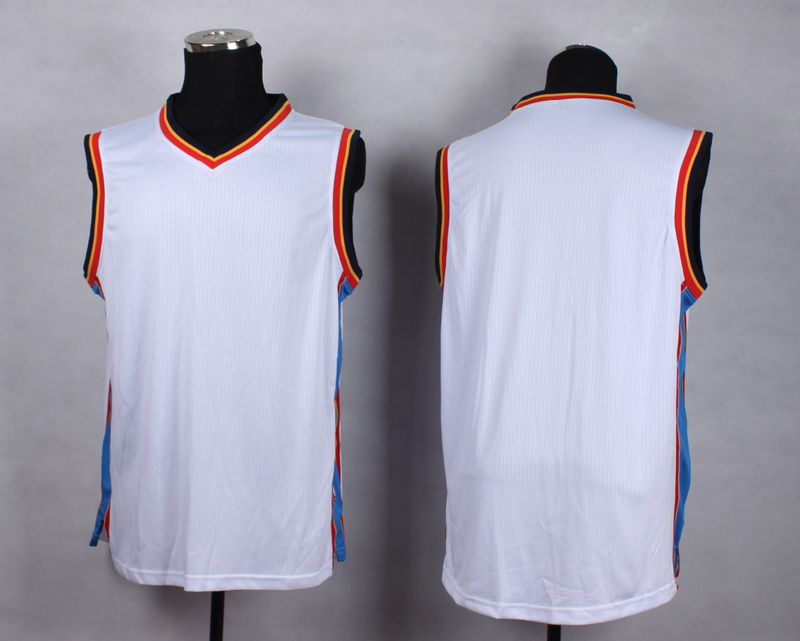 NBA Oklahoma City Thunder Blank white New Jersey