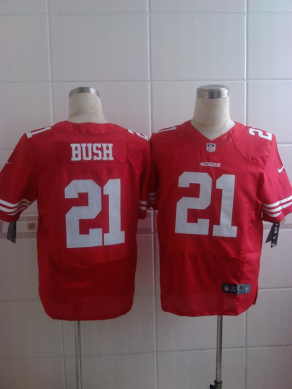 San Francisco 49ers 21 bush red 2015 Nike Elite Jersey