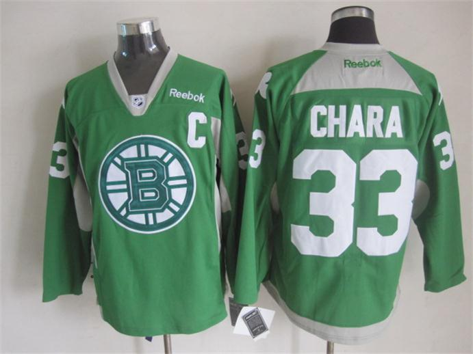 NHL Boston Bruins 33 chara green New 2015 Practice Jersey