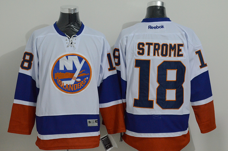 NHL New York Islanders 18 strome white Regular Away 2015 Jersey