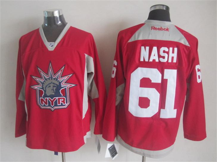 NHL New York Rangers 61 nash red 2015 Practice Jersey