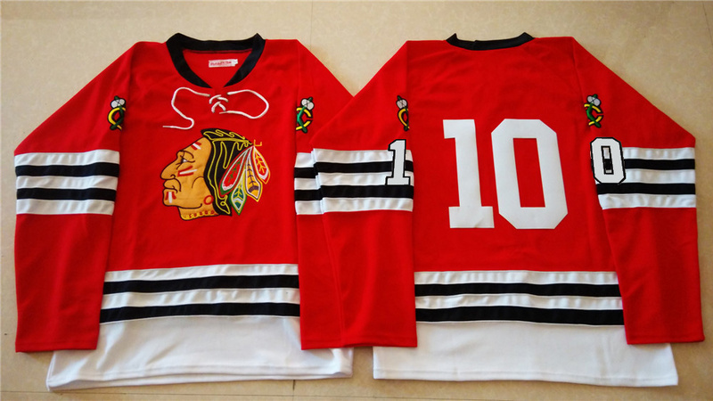 NHL Chicago Blackhawks 10 red 2015 Throwback No Name Jersey