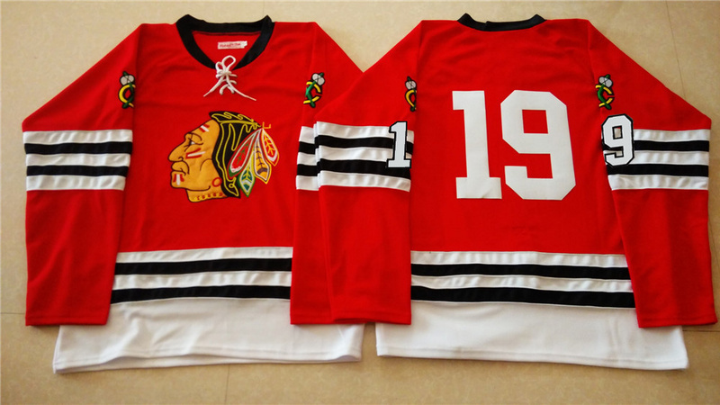 NHL Chicago Blackhawks 19 red 2015 Throwback No Name Jersey
