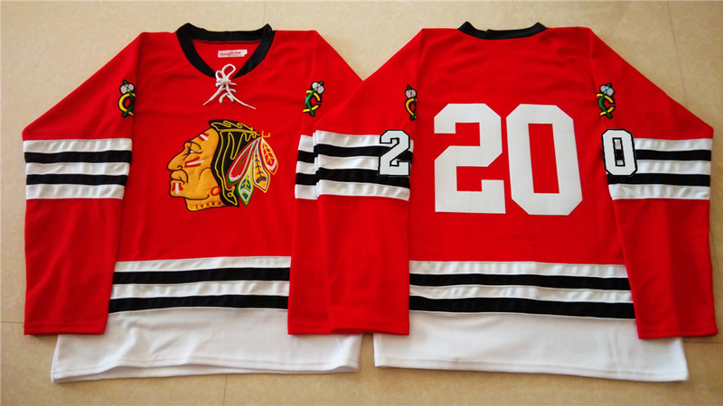 NHL Chicago Blackhawks 20 red 2015 Throwback No Name Jersey