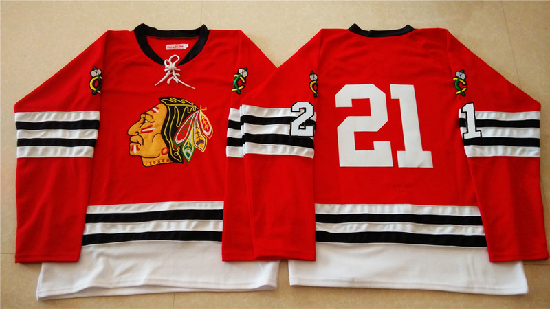 NHL Chicago Blackhawks 21 red 2015 Throwback No Name Jersey