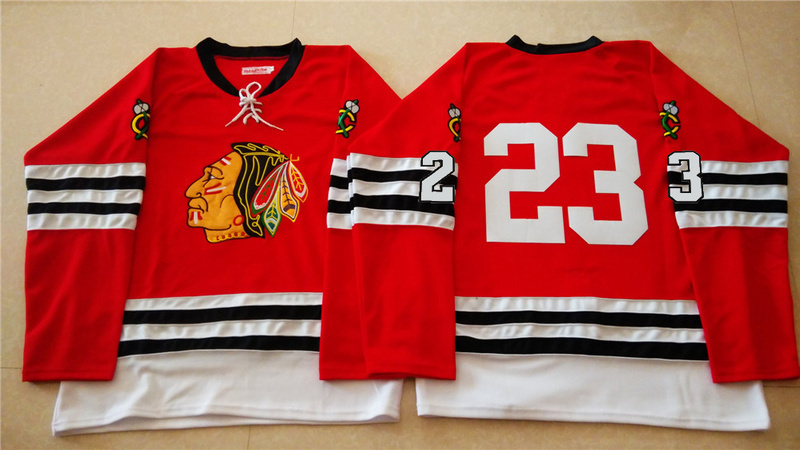 NHL Chicago Blackhawks 23 red 2015 Throwback No Name Jersey