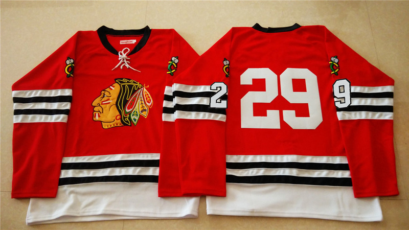 NHL Chicago Blackhawks 29 red 2015 Throwback No Name Jersey
