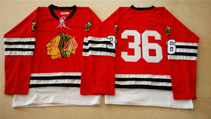 NHL Chicago Blackhawks 36 red 2015 Throwback No Name Jersey