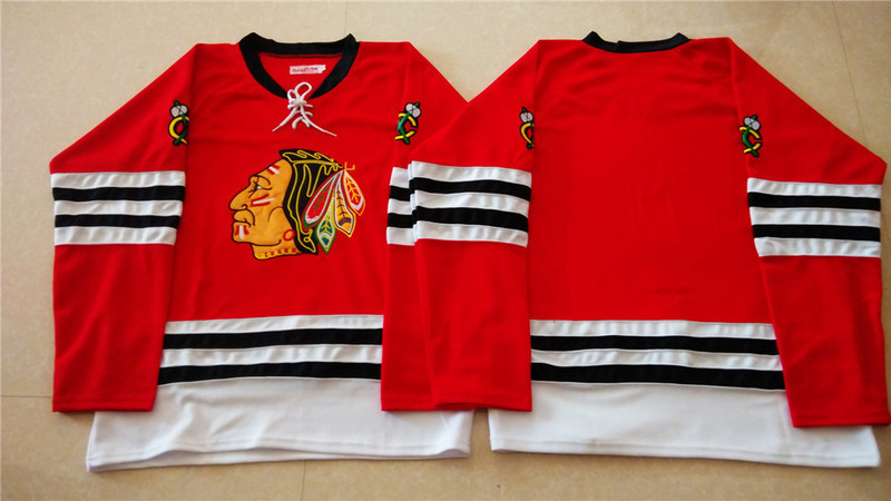 NHL Chicago Blackhawks blank red 2015 Throwback No Name Jersey
