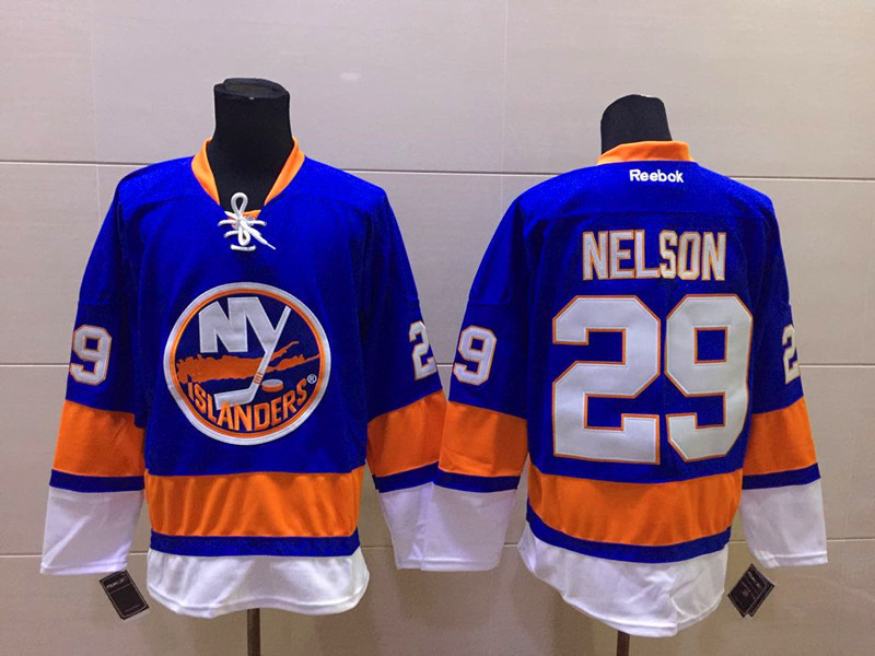 NHL New York Islanders 29 nelson Blue Regular Away 2015 Jersey