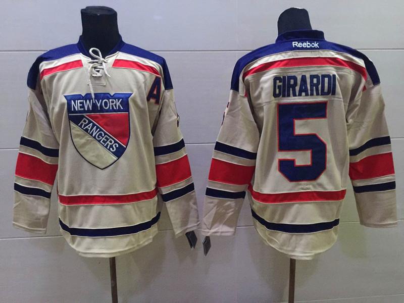 NHL New York Rangers 5 girardi beige Gream Winter Classic Jersey