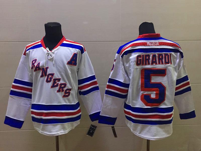NHL New York Rangers 5 girardi white Jersey