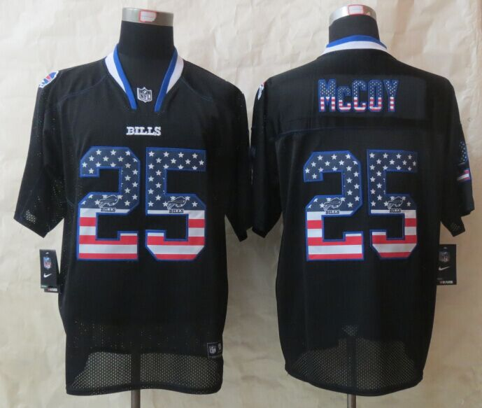 Buffalo Bills 25 McCoy USA Flag Fashion Black 2015 New Nike Elite Jerseys